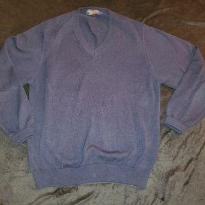 Brooks Brothers Blue V-eck. 100% cotton